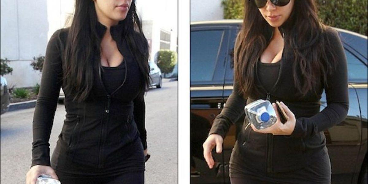 FOTOS: Embarazada, Kim Kardashian no para de hacer ejercicio