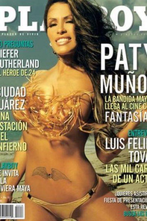 Paty Muñoz tampoco lo dudó y deleitó a sus fans con esta portada, sin duda, una de las más exitosas de Playboy. Foto:Playboy