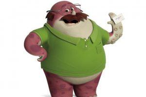 """Frente a la realidad de la crisis económica, el monstruo de las ventas Don Carlton vuelve a la escuela para aprender nuevas habilidades y ejercer una carrera soñada como asustador. Es uno de los estudiantes """"maduros"""" de Monsters University y miembro fundados de la fraternidad Oozma Kappa. Foto:Pixar Animation Studios"""