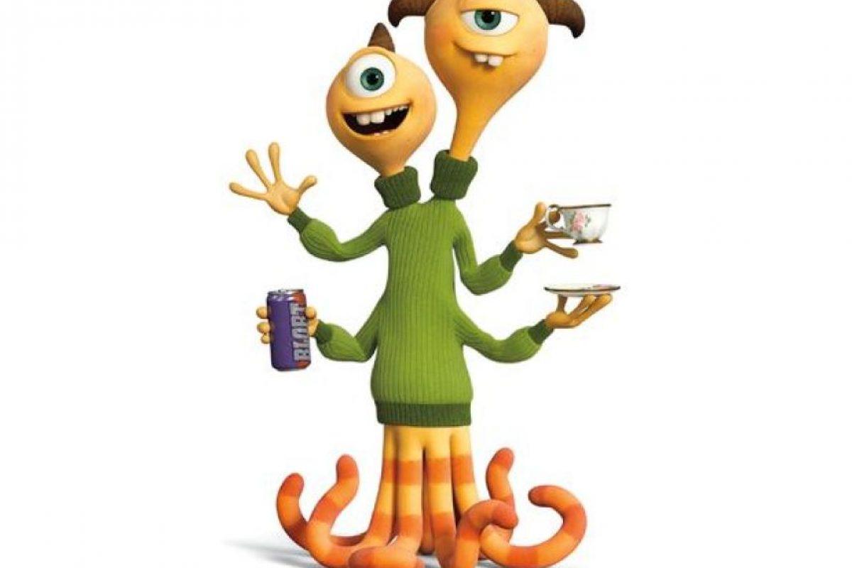 """Cuando se trata de 'Terri' y 'Terry', es difícil no preguntarse: ¿dos cabezas realmente piensan mejor que una? Estos hermanos peleadores tienen poco en común: 'Terri', con """"i"""", es un verdadero romántico que rápidamente ve el lado bueno de cualquier situación; mientras que su hermano mayor, 'Terry', con """"y"""", posee una perspectiva más cínica de la vida. Foto:Pixar Animation Studios. Imagen Por:"""