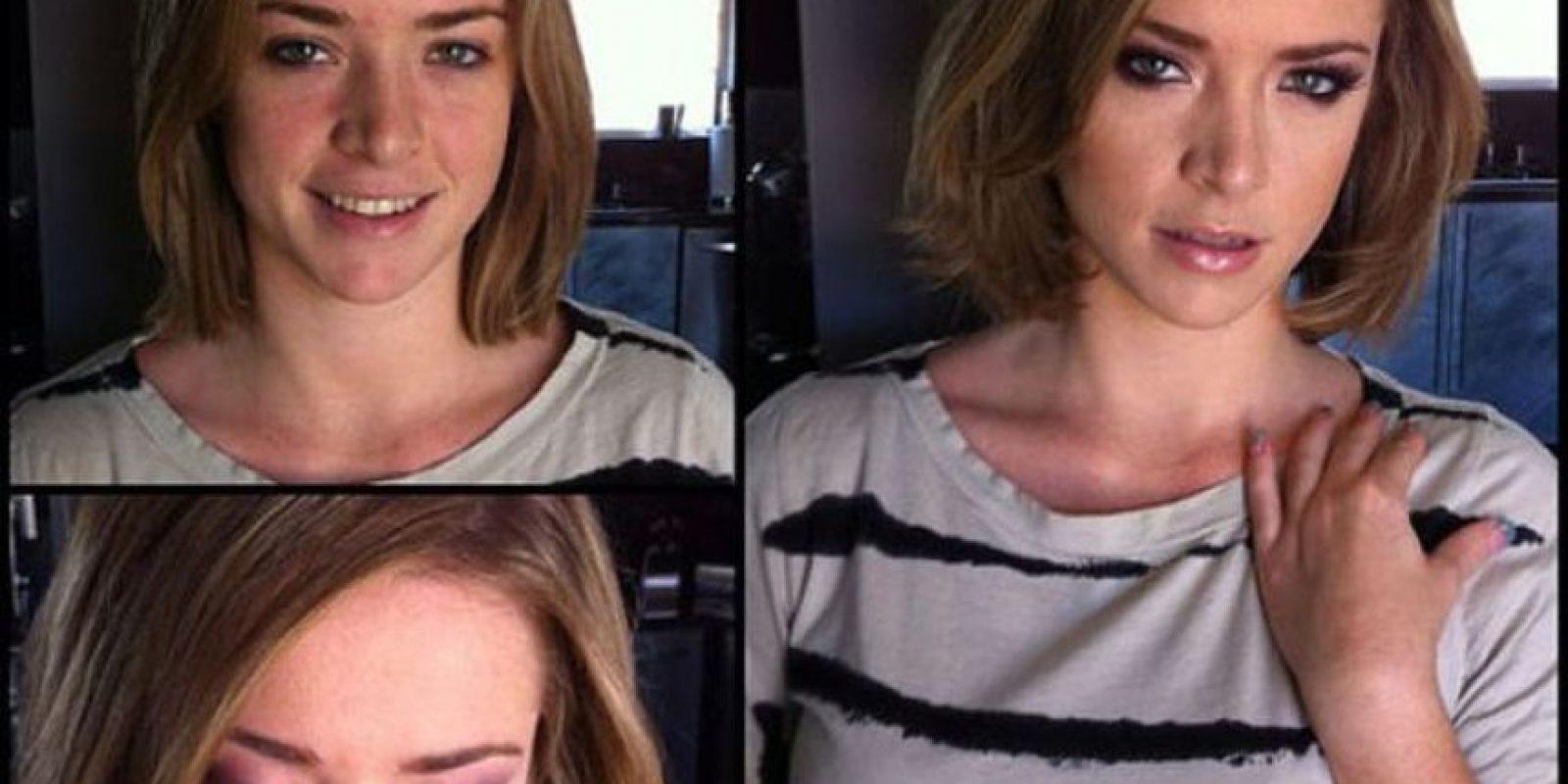 Actriz Porno Sierra Sanders fotos: actrices porno, antes y después del maquillaje