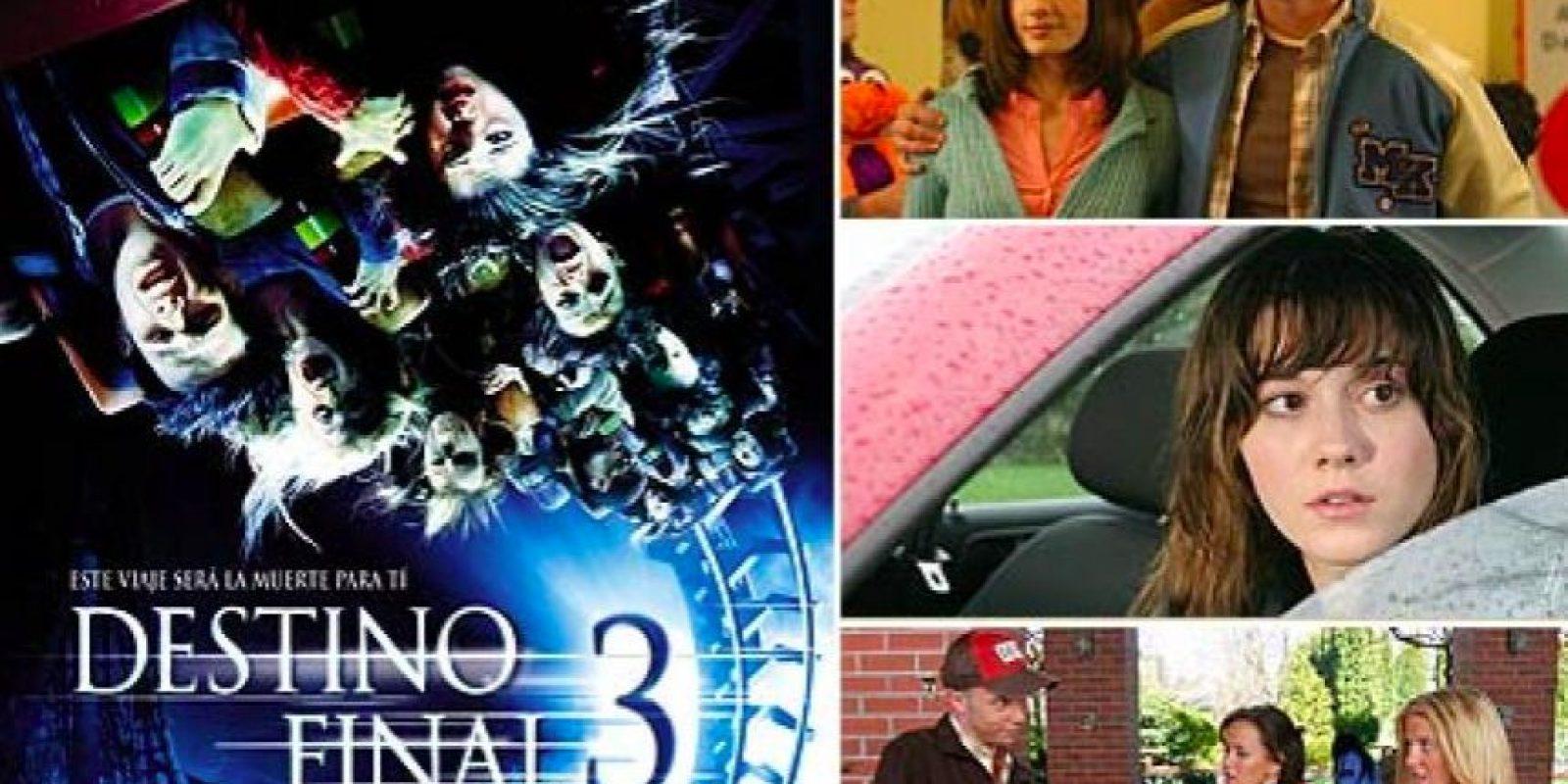En Destino Final 3, los actores tuvieron que subirse 23 veces en una montaña rusa, con el fin de crear la mejor toma para el afiche promocional de la película. Foto:Especial