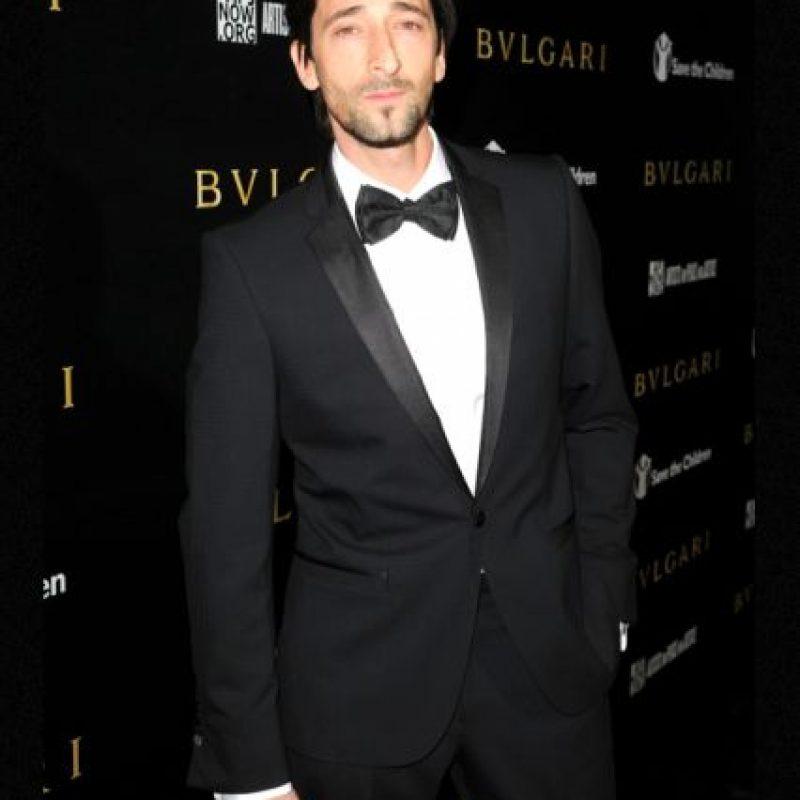 Adrien Brody, destaca por su anguloso rostro y su nariz. Fue novio de Elsa Pataky, entre otras. Foto:Getty Images