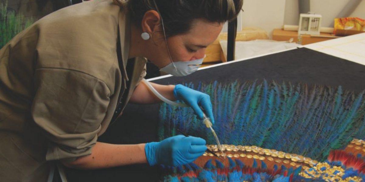 FOTOS: La restauración del penacho de Moctezuma