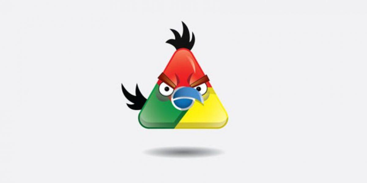 Logos famosos convertidos en Angry Birds