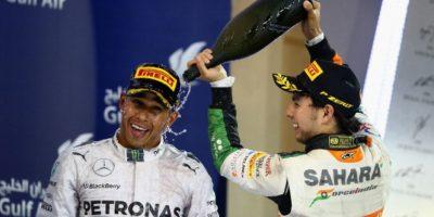 Ahora 'Checo' le regresó el gesto Foto:Getty Images