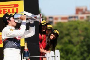 'Checo' terminó tercero en Canadá en 2012 Foto:Getty Images. Imagen Por: