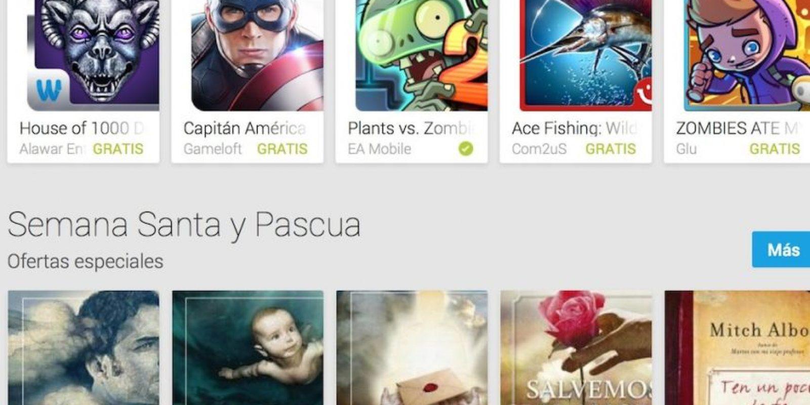 Juegos también son los más descargados en Google Play. Foto:Google