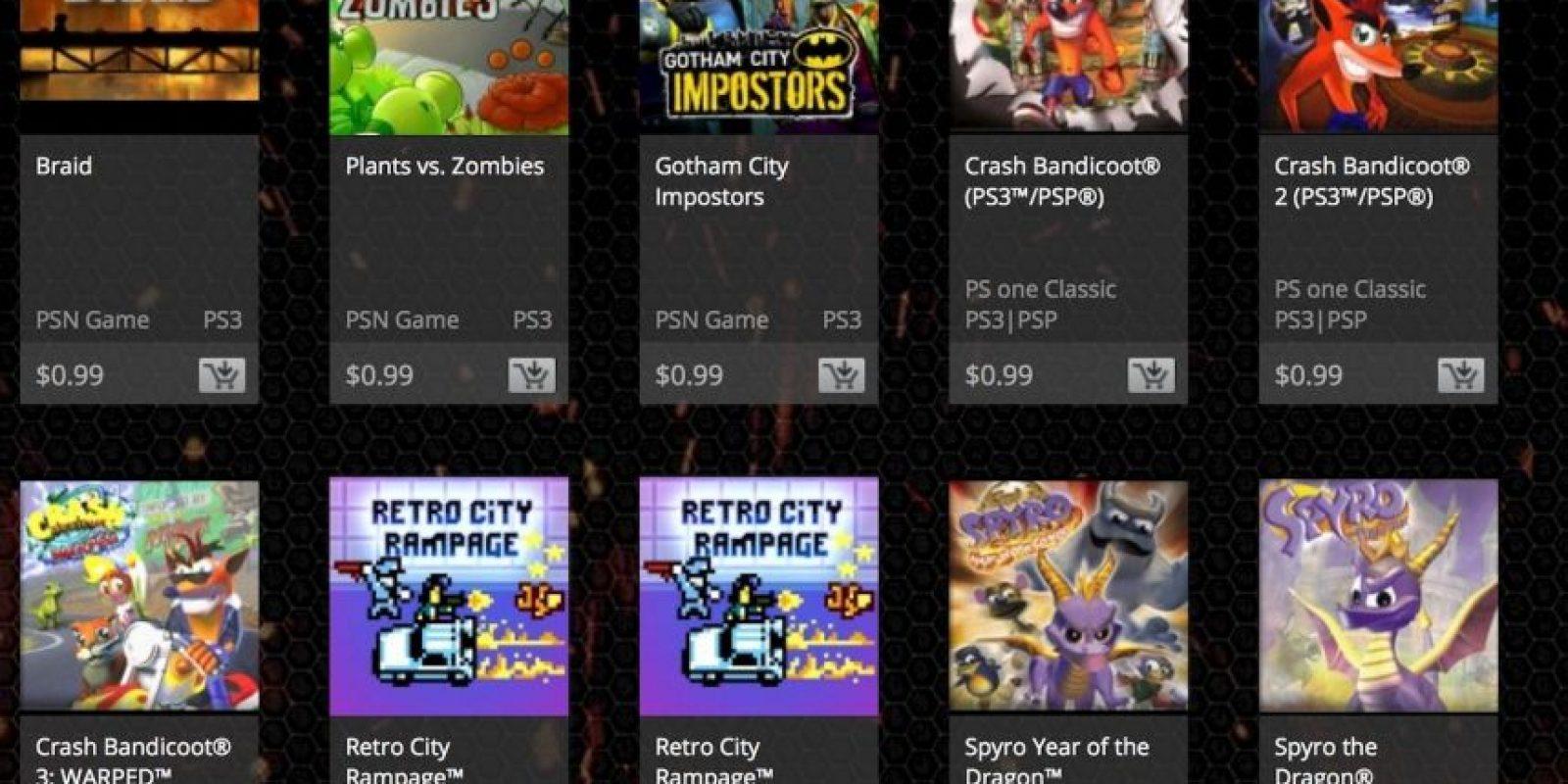 Son 30 títulos entre los que pueden elegir. Foto:PlayStation