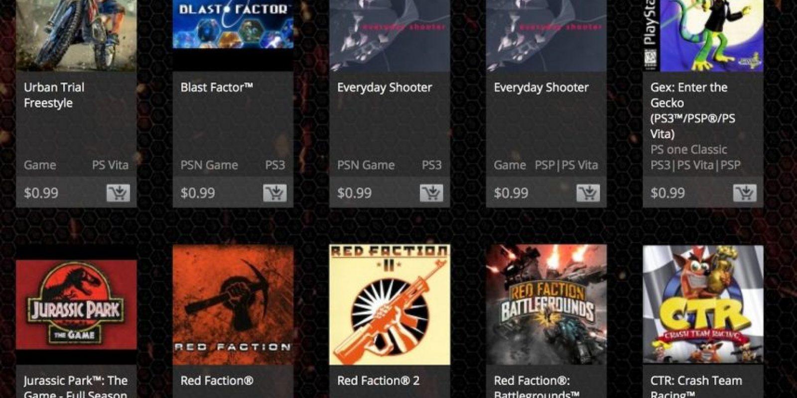 Algunos juegos disponibles. Foto:PlayStation