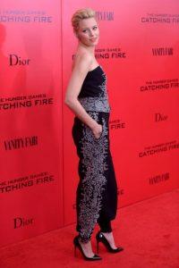 Elizabeth Banks. La actriz, famosa por sus papeles en películas cómicas y en The Hunger Games. Tiene una maestría en bellas artes del Conservatorio de Teatro Americano. Foto:Getty