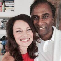 Así luce ahora, aquí la actriz posa con nuevo esposo Foto:Facebook