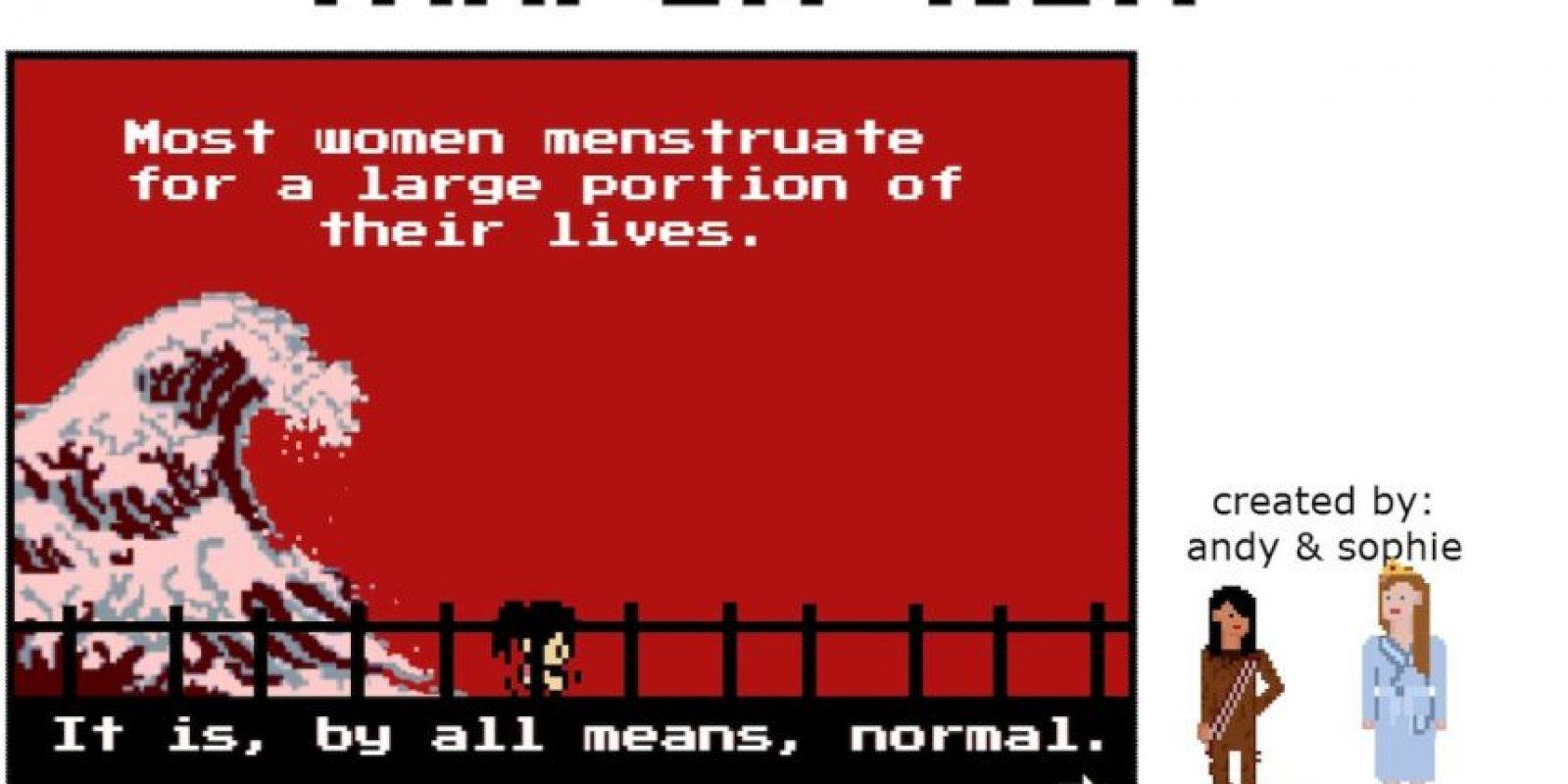 """""""La menstruación forma parte de nuestras vidas"""" Foto:Captura de Pantalla"""