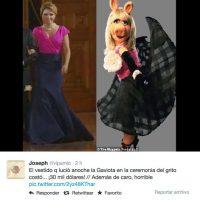 Otros criticaron el modelo del vestido. Foto:Twitter