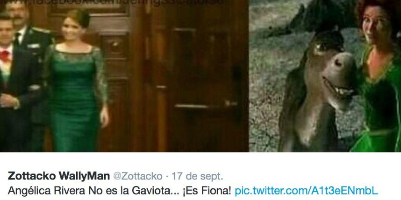 """La llamaron """"Fiona"""" por su vestido verde el año pasado. Foto:Twitter"""