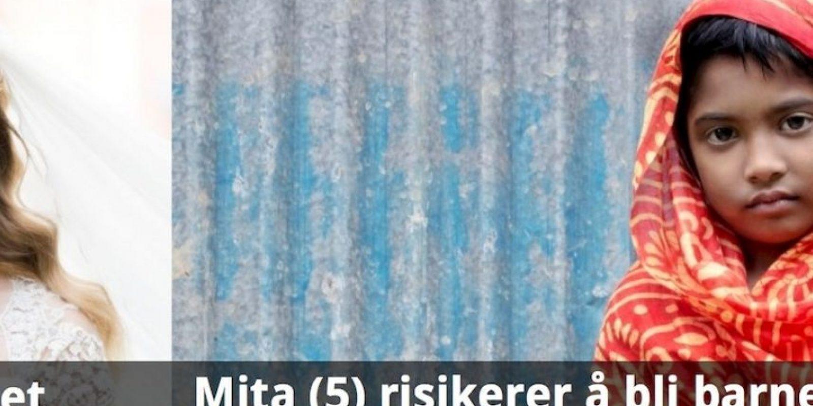 Esto afecta a 39 mil niñas cada día. La campaña ha impactado grandemente en Noruega. Foto:Plan