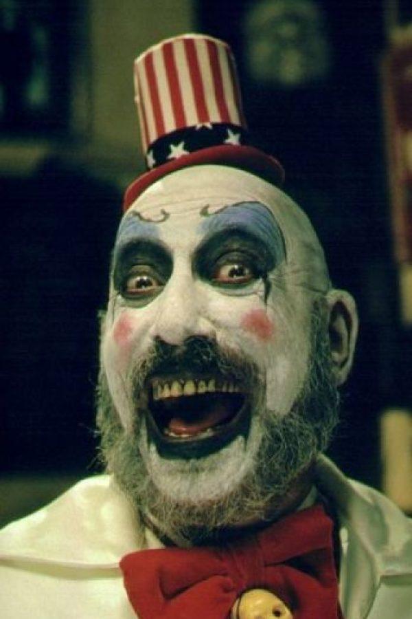 """""""Captain Spaulding"""" es uno de los payasos asesinos más tenebrosos del cine. Foto:Vía IMDB"""
