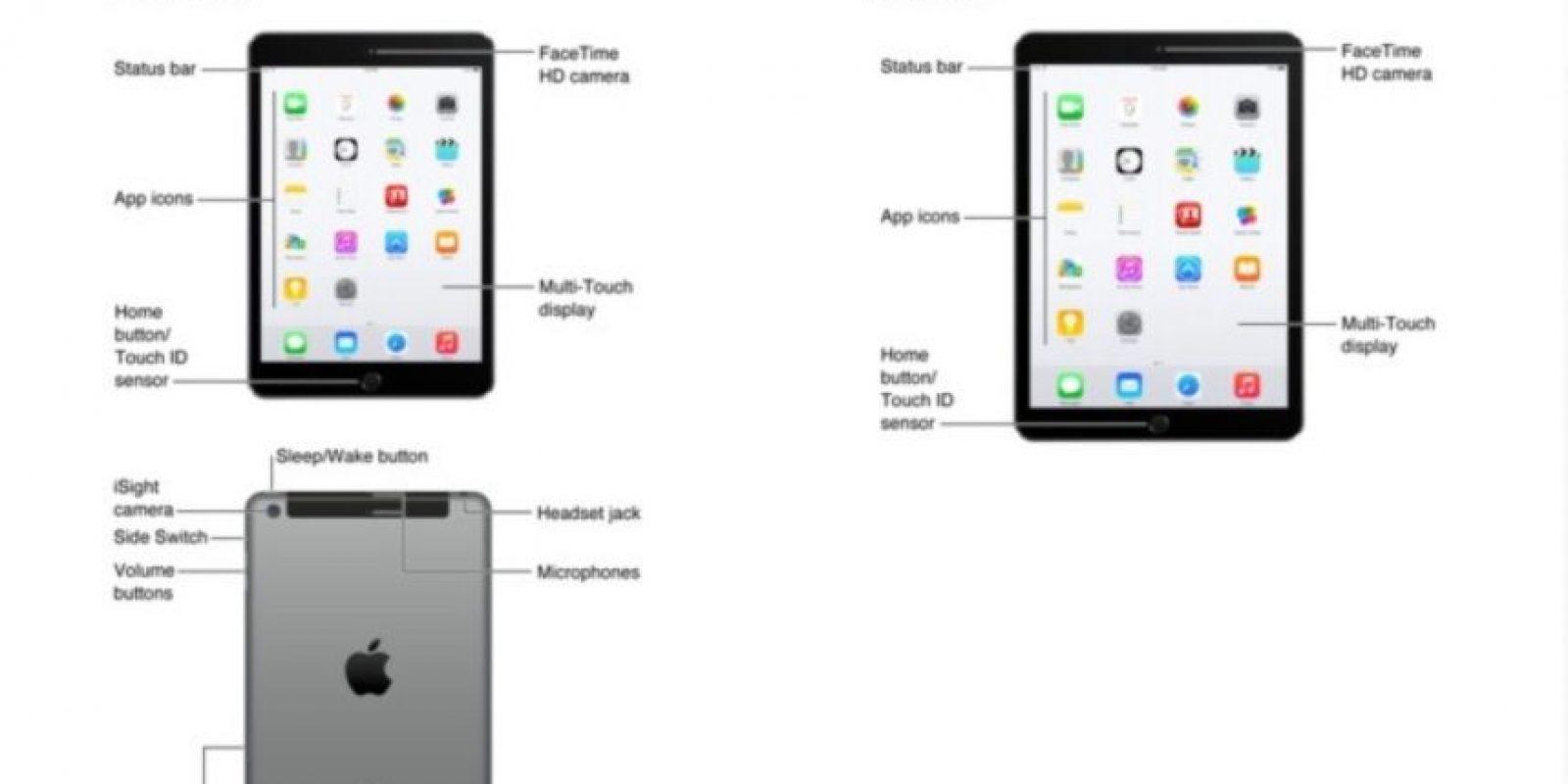 Las imágenes filtradas en iTunes del iPad Air 2 y el iPad mini 3. Foto:Apple