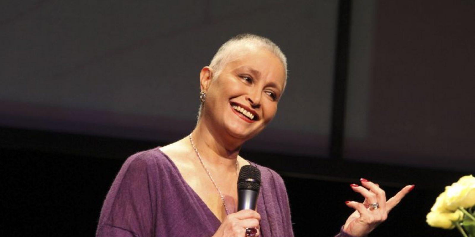 Daniela Romo superó el cáncer de mama, se alejó de los reflectores en noviembre de 2011 cuando le fue extirpado un tumor del seno izquierdo. En diciembre inició un tratamiento que incluyó 12 sesiones de quimioterapia y 30 de radioterapia y el año pasado reapareció más fuerte que nunca. Foto:Cuartoscuro