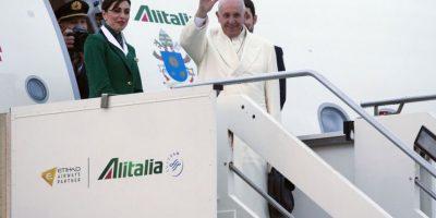 Como en cada viaje, el Papa va acompañado de un pequeño cuadro de la Virgen de Bonaria, una imagen custodiada en la isla italiana de Cerdeña y a la cual se debe el nombre de la capital argentina, Buenos Aires. Foto:AP