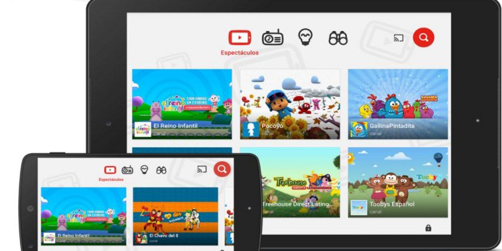 YouTube Kids ha tenido mucho éxito en países anglosajones. Foto:YouTube