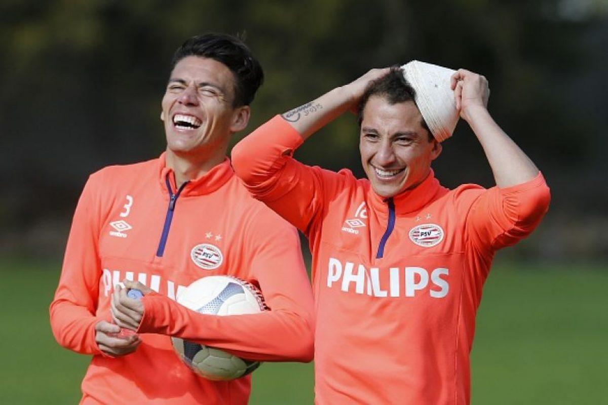 Héctor Moreno y Andrés Guardado Foto:Getty Images