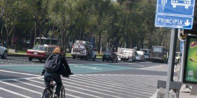 En trayectos cortos se recomienda el uso de ciclovías, aunque la red está limitada al centro de la ciudad Foto:Cuartoscuro