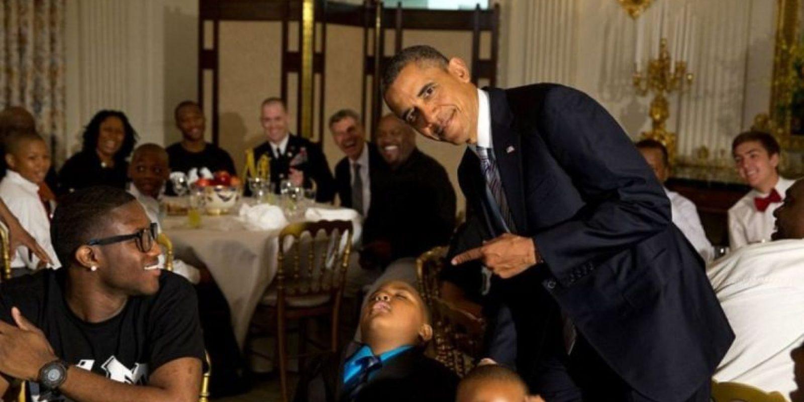 Los pequeños deben tener cuidado de no quedarse dormidos o pueden ser la burla del Presidente Foto: Vía whitehouse.gov/photos