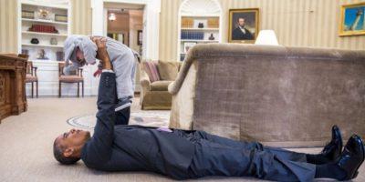 Tiernos momentos de Barack Obama y pequeños Foto: Vía whitehouse.gov/photos