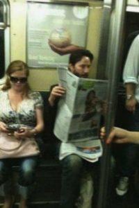 Keanu Reeves Foto:Vía celebritiesonthesubway.tumblr.com