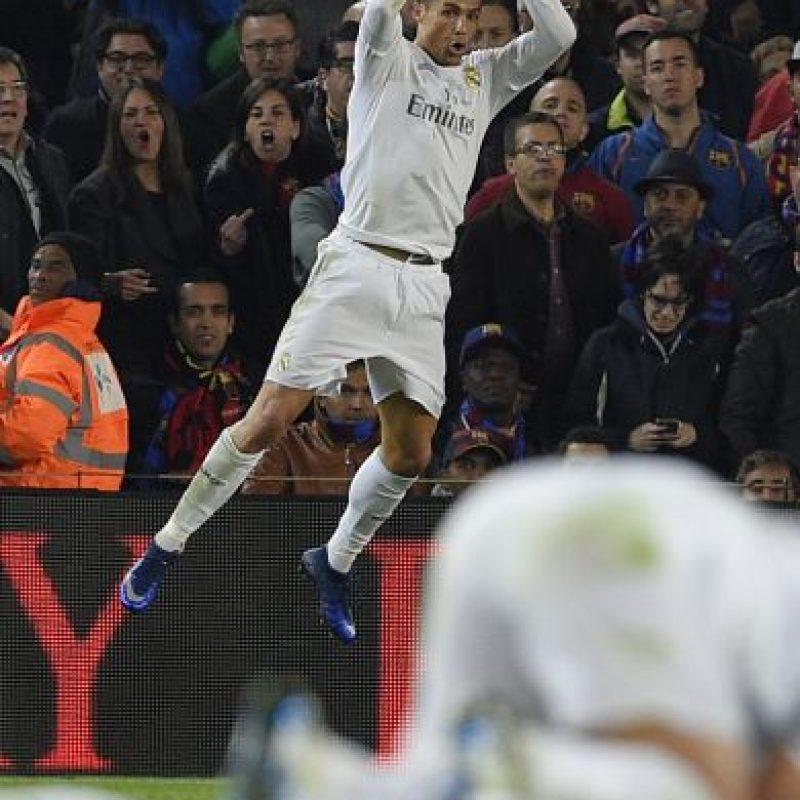 """Sin embargo, esta noche, """"CR7"""" anotó en el Camp Nou el tanto de la victoria del Real Madrid sobre el Barcelona. Foto:Getty Images"""