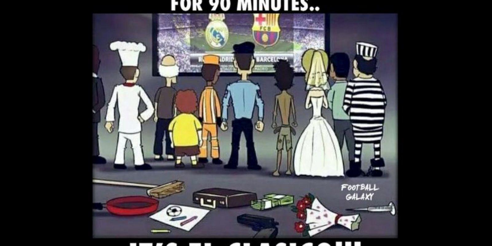 Hoy el mundo se detiene por 90 minutos: Es el Clásico. Foto:Vía twitter.com/TrollFootball