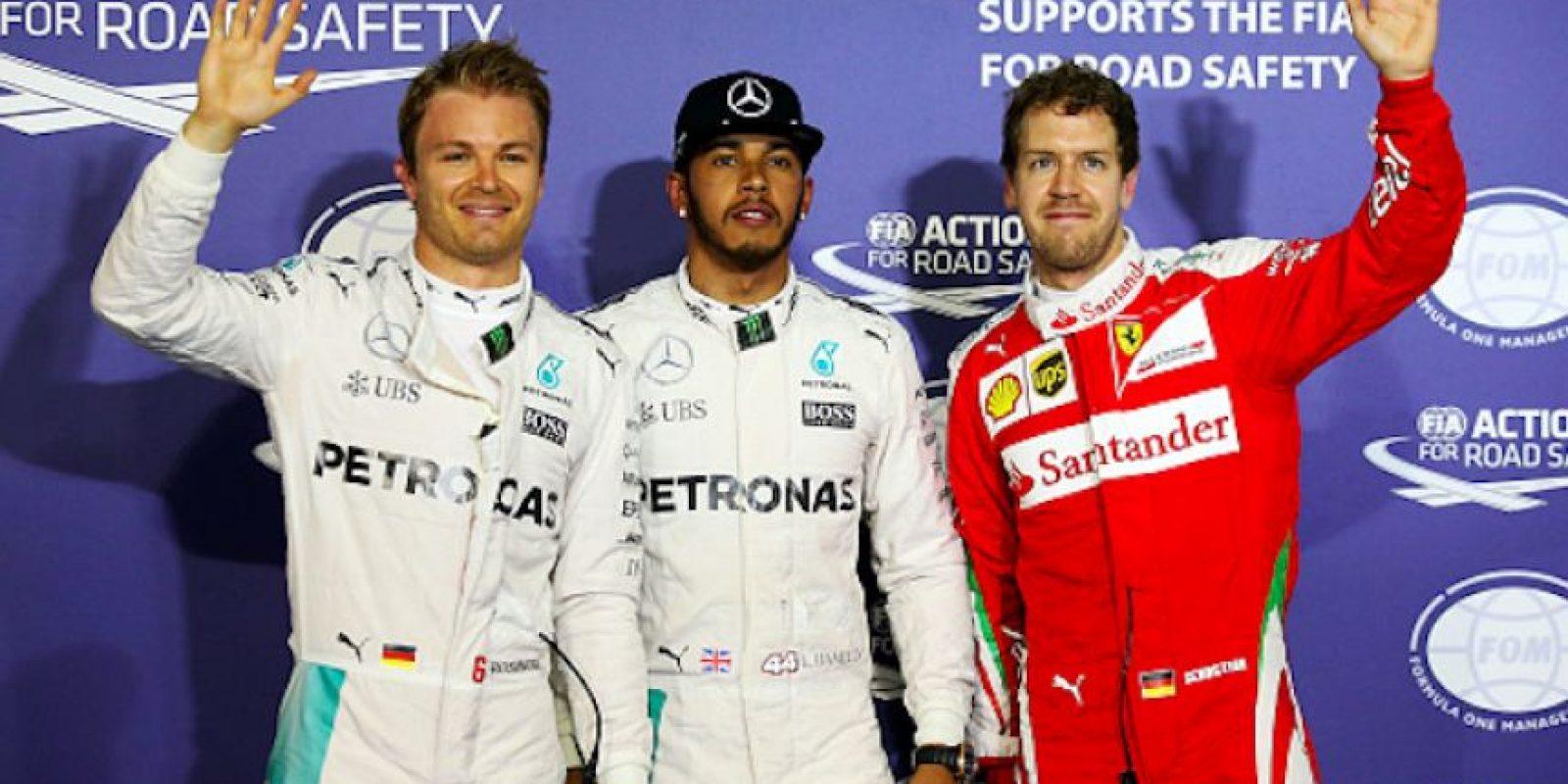 Hamilton saldrá primero, Rosberg segundo y Vettel desde el tercer sitio Foto:Getty Images