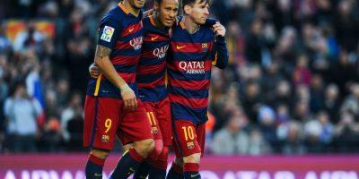 """La """"MSN"""" es el tridente formado por Lionel Messi, Neymar y Luis Suárez. Juntos, poseen un valor de 310 millones de euros. Foto:Getty Images"""