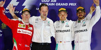 Rosberg gana en Bahréin, Raikkonen es segundo y Hamilton es tercero Foto:Getty Images