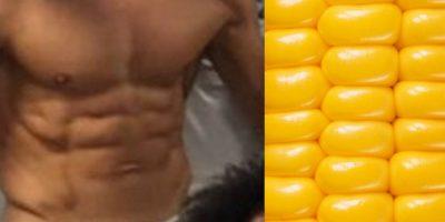 Compararon su abdomen con un elote. Foto:Vía twitter.com