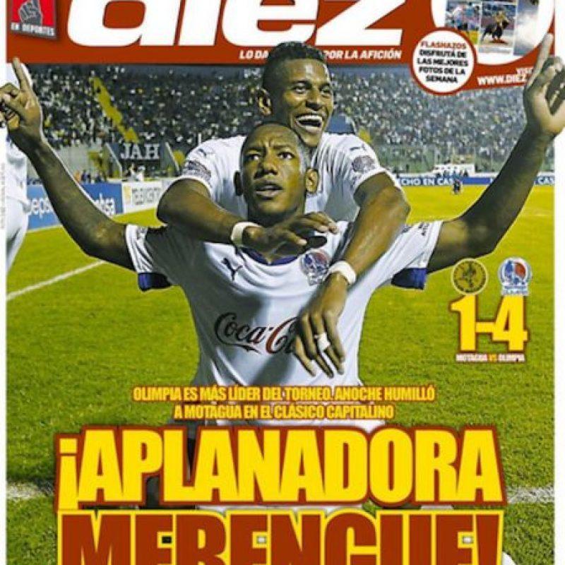 La portada del diario Diez, uno de los más importantes en Honduras Foto:Twitter