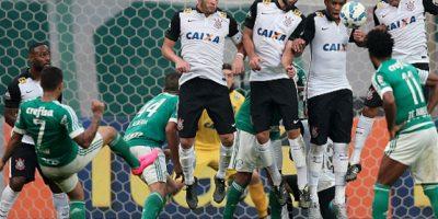 Palmeiras derrotó por la mínima diferencia a su antagónico rival, Corinthians Foto:Getty Images