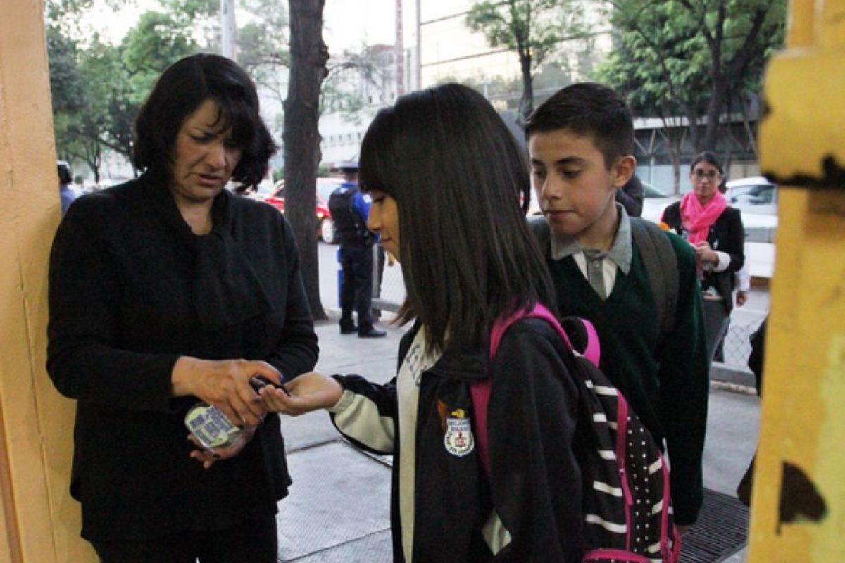 Los estudiantes arribaron a sus escuelas desde temprano. Foto:Cuartoscuro