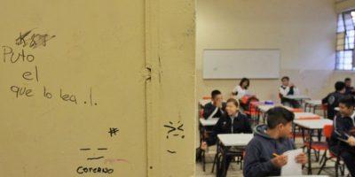 Los rayones no se han erradicado en las paredes de las escuelas. Foto:Cuartoscuro