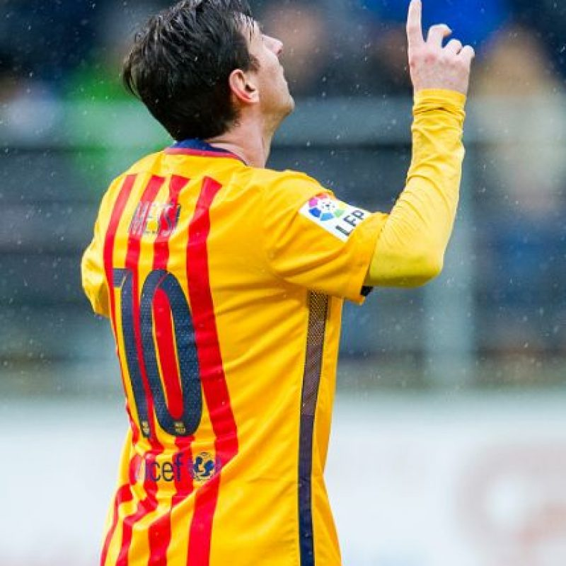 """2. Tiene el Record Guinnes por más goles conseguidos en un año. """"Leo"""" anotó 91 dianas en 69 partidos oficiales, en 2012 Foto:Getty Images"""