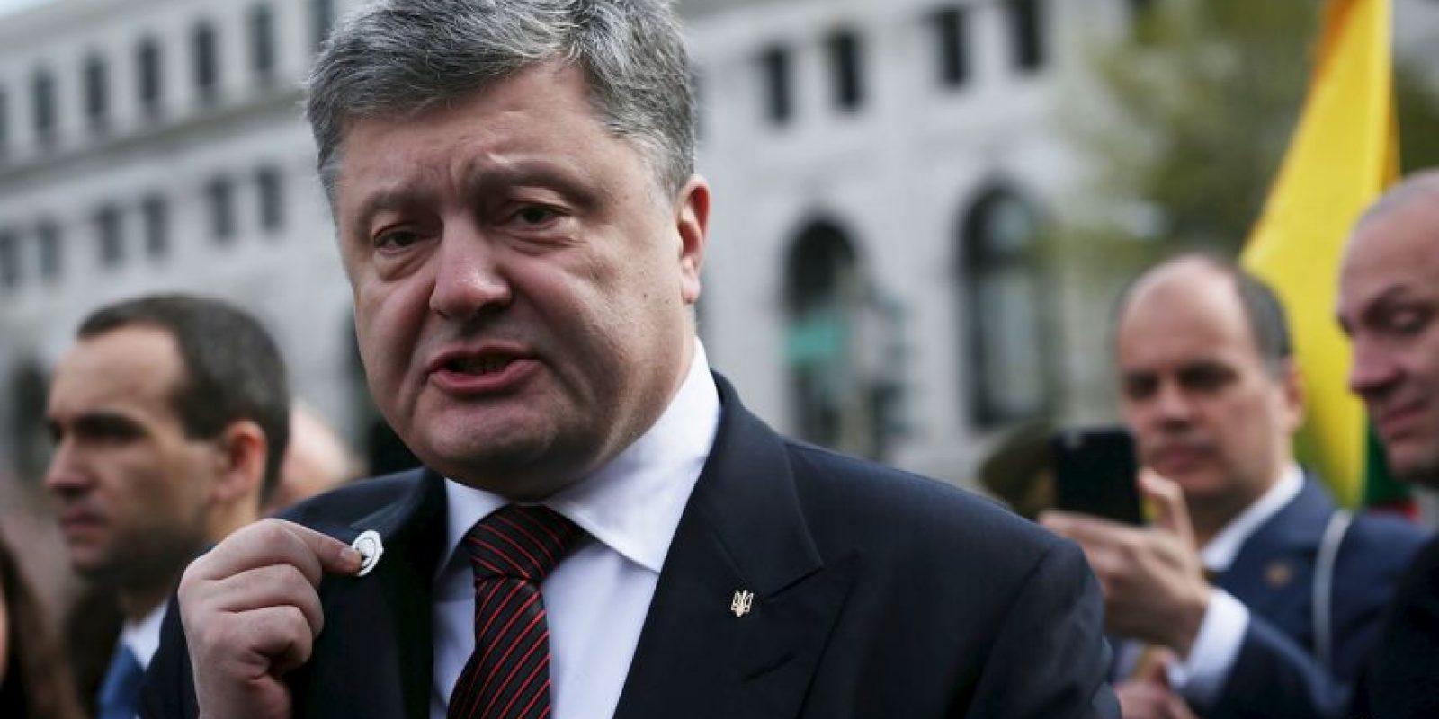 Entre ellos, líderes mundiales como el presidente ucraniano Petro Poroshenko. Foto:Getty Images