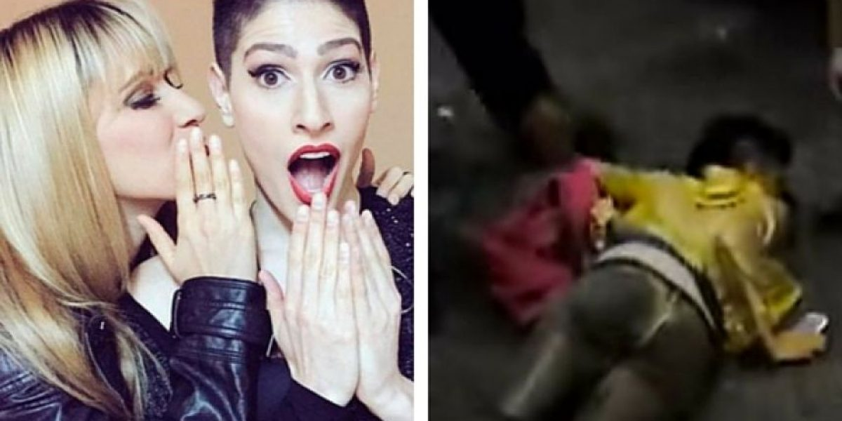 Video: Ashley, de Ha-Ash, sufre aparatosa caída en plena calle