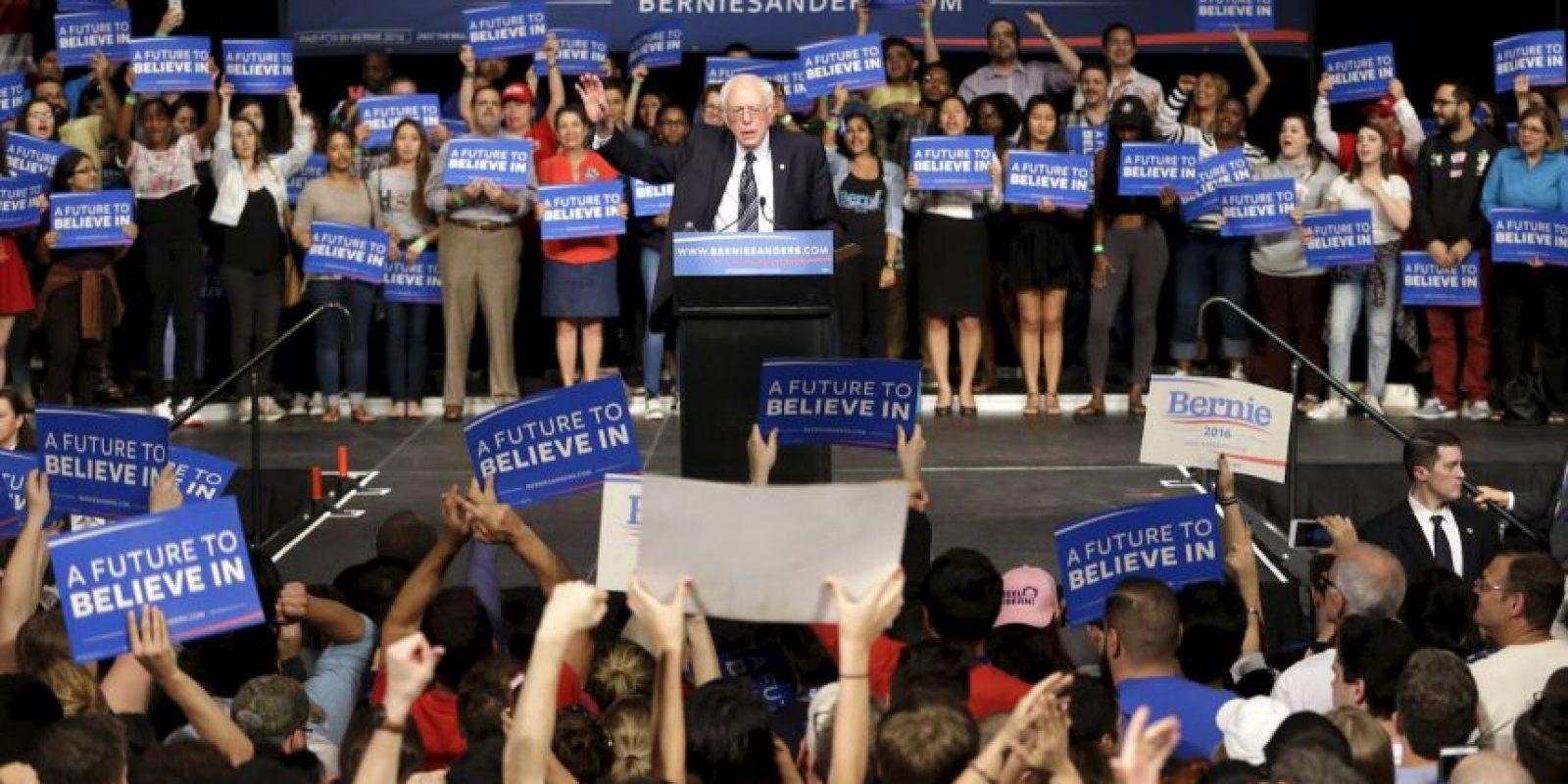 Hasta ahora va detrás de Clinton pero ha dado una dura batalla. Foto:AP