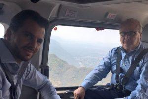 Rafael Pacchiano y Graco Ramírez sobrevolaron la zona afectada Foto:Especial