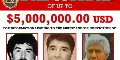 Caro Quintero es buscado por el asesinato de un agente de la DEA en los 80`s Foto:DEA