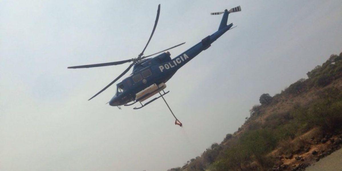 Sofocado 70% del incendio en Tepoztlán