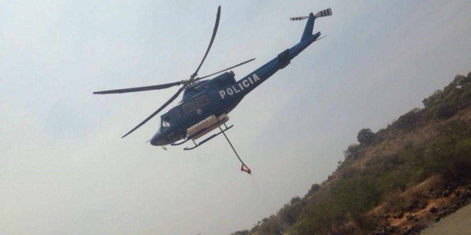 Helicópteros de distintas instituciones colaboran en la zona