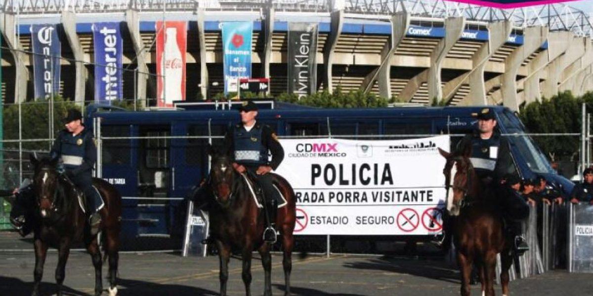 Fuerte dispositivo de seguridad para el América-Xolos en el Azteca