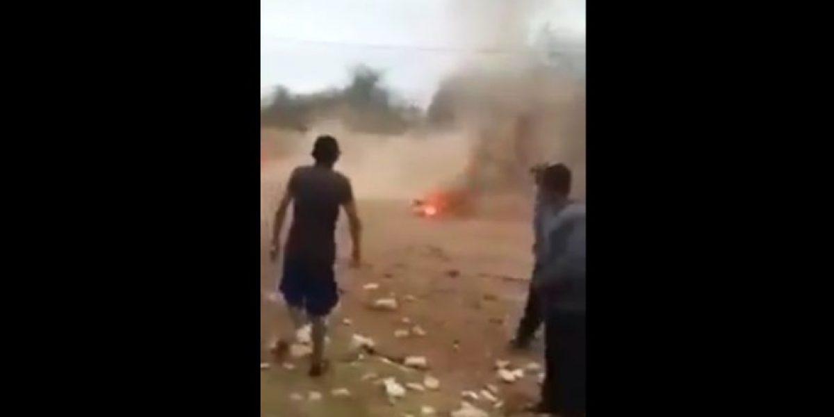 VIDEO: Jóvenes queman a perro en San Luis Potosí